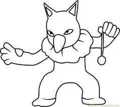 Hypno Pokemon GO Coloring Page