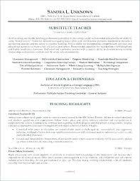 Substitute Teaching Resume Samples Teacher Examples Sample Experience Resumes Substitut