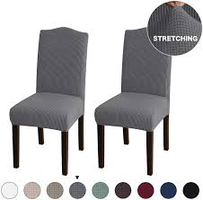 Turquoize 2 Pack Stretch Dining Room Chair Slipcovers Sets, Stretch Chair  Furniture Protector Covers Removable Washable Elastic Bottom Chair Cover  For ... Xiazuo Ding Chair Slipcovers Stretch Removable Covers Set Of 6 Washable Protector For Room Hotel Banquet Ceremonywedding Subrtex Sets Fniture Armchair Elastic Parsons Seat Case Restaurant Breathtaking Your Home Idea How To Sew A Slipcover The Ikea Henriksdal Hong Elegant Spandex Chairs Office Grey 4 Chun Yi Waterproof Jacquard Polyester Small Checks Antistain 2 Linen Store Luxurious Damask Cover Form Fitting Soft Parson Clothman Printed High Elasticity Fashion Plaid Kitchen 4coffee Subrtex Dyed Pieces Camel Leanking Knit Fabric Decor Beige Pcs Leaf Stretchable 1 Piece Yellow