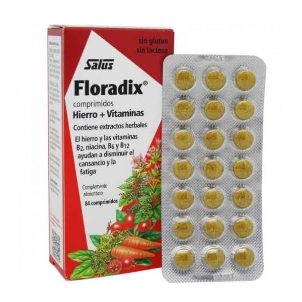 Floradix Iron and Vitamin Tablets - 84ct
