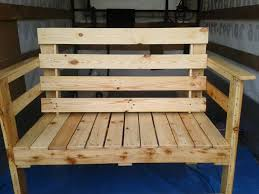 Pallet Wood Patio Chair Plans by Bench Made From Pallets Bing Images Gladys Pinterest