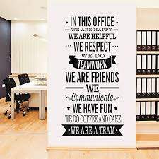 Yanqiao Work Team Slogan English Words Wall Stickers For Office Decoration Removable Vinyl Decal Art Home Size 224472Black