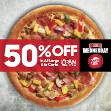 Pizza Hut - Supreme Wednesday Is Finally Here! Enjoy 50 ... Pizza Hut On Twitter Get 50 Off Menupriced Pizzas I Love Freebies Malaysia Promotions Everyday Off At March Madness 2019 Deals Dominos Coupons How To Percent Pies When You Order Hit Promo Best Promo Code For The Sak Hut Large Pizza Coupons All Through Saturday Web Deals Half Price Books Marketplace Coupon Things To Do In Ronto Winter Papajohns Discount Is Buffalo Wild Wings Open