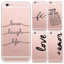Words Love Amor Design Transparent Soft Silicon IPhone 6 6S Case
