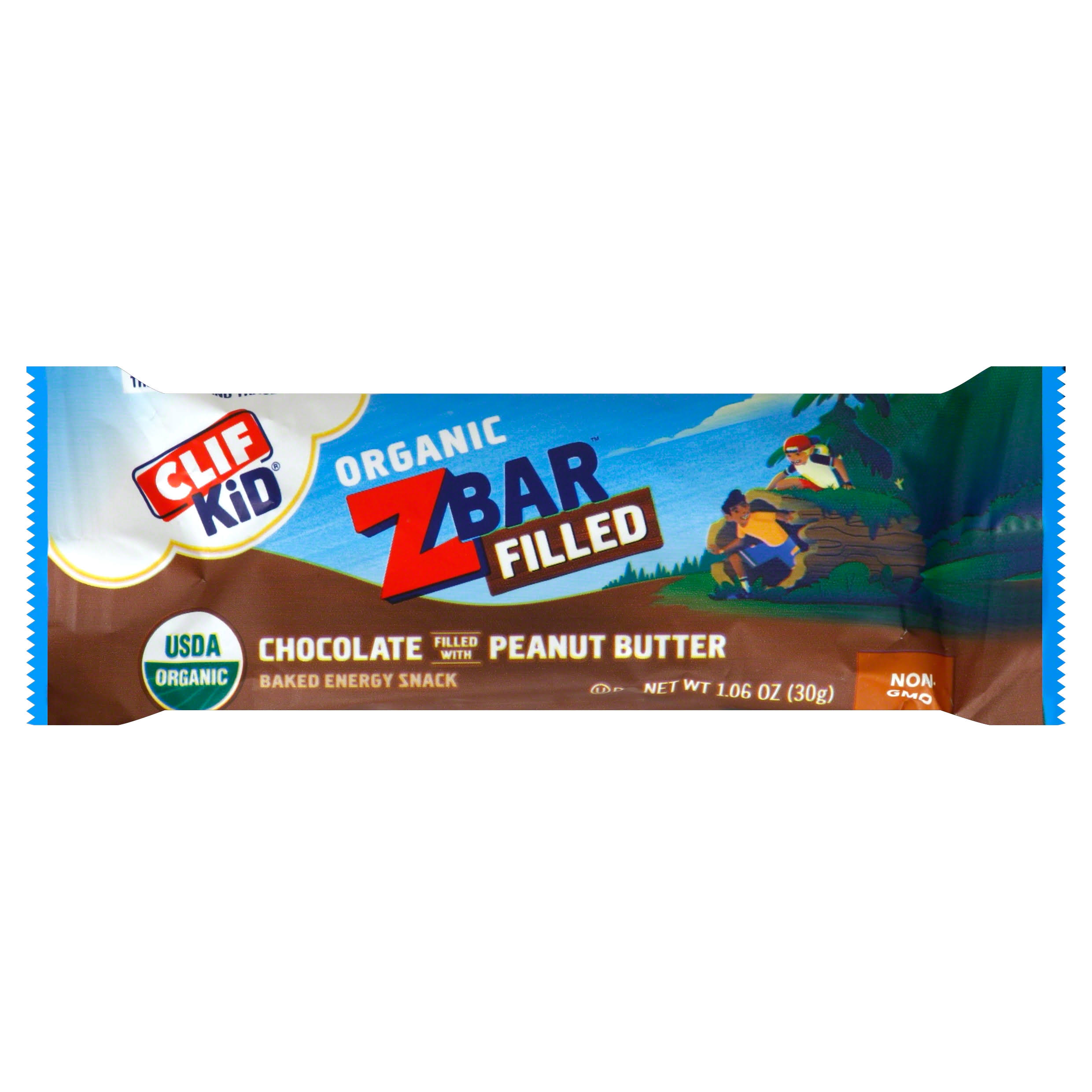 Clif Kid Z Bar, Filled, Organic, Chocolate Filled with Peanut Butter - 1.06 oz