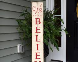 We Believe Rustic Sign Painted On Reclaimed Wood