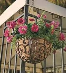 2018 Round Rustic Cast Iron Hanging Flower Basket Pot Holder Heavy Metal Outdoor Garden Plant Hanger Free Ship From Haolyhelen
