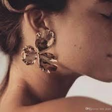100 Where Is Dhgate Located 2019 Gold Flower Drop Earrings For Women 2018 Luxury Boho