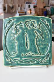city crest 7 pewabic trivet in pewabic green