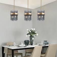 moderne hängeleuchte aus glas oval design 4 flammig für