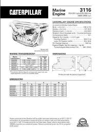 3116 cat engine cat 3114 3116 3126 engine manuals and spec sheets