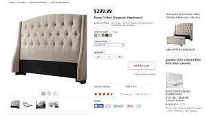 Target Roma Tufted Wingback Bed by Heads Up A Brief Interruption From Kitchen Progress To Score A