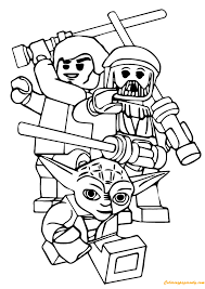 Lego Star Wars Coloring Page