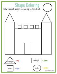736x952 Free Printable Shape Coloring Math Pinterest