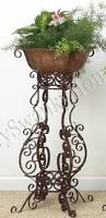 Outdoor Patio Plant Stands by Amazon Com Wrought Iron Scrollwork Floor Planter Plant Stand