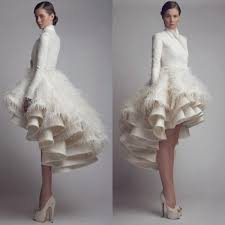 discount designer krikor jabotian high low wedding dresses high