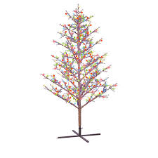 Spiral Pre Lit Christmas Trees by Ge 5 Ft Indoor Outdoor Winterberry Pre Lit Artificial Christmas