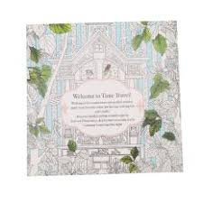 HengSong Secret Garden Time Travel And Coloring Book English 12pages
