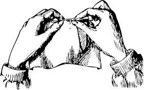 Transparent Download Sewing Hands Clip Art At Clker Com