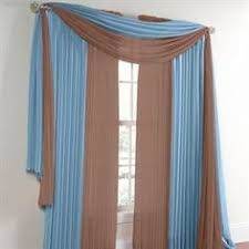 Brylane Home Sheer Curtains by Flowy Chiffon Curtains With Long Valance Interior Design