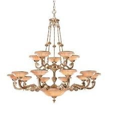 Bravado Alabaster 15 Light Shaded Chandelier