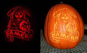 Puking Pumpkin Pattern Free by 19 Sons Of Anarchy Halloween Pumpkins Soafanatic Everything