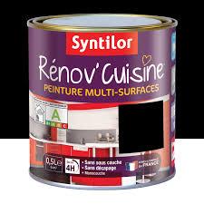 peinture pour meuble de cuisine en chene peinture rénov cuisine syntilor noir 0 5 l leroy merlin