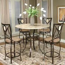 Round Bar Table And Chairs Set Stools Pub Height Kitchen ...
