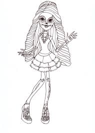 Free Printable Monster High Coloring Sheet For Skelita Calaveras