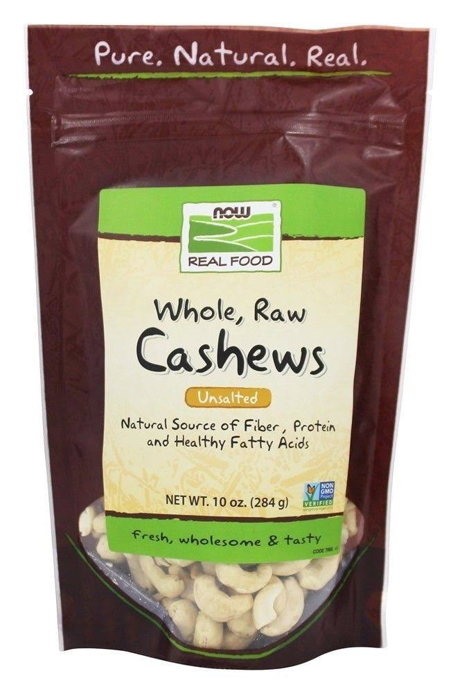 Now Real Food Whole Raw Cashews - Unsalted