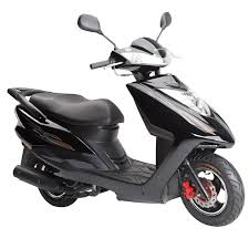 125CC Gas Motor Scooter Powered Mopeds For Adults Disk Drum Brake