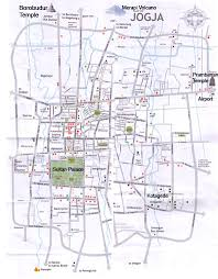 Yogyakarta Tourism Maps Provides Details Information Of City Map As A Tourist For Visitors At This Regions Complete With Direction