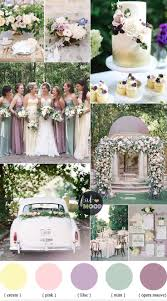 Pastel Wedding Colour Palette CreamLilacMauve And Mint