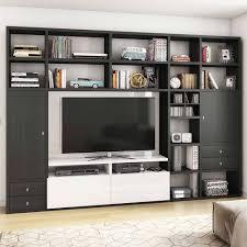 eiche schwarzbraun regal mit tv element lidoral