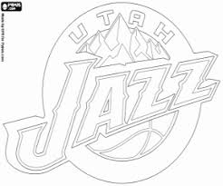 Utah Jazz Logo Cleveland Cavaliers Emblem Coloring Page
