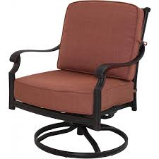 Darlee St. Cruz Cast Aluminum Patio Swivel Rocker Club Chair