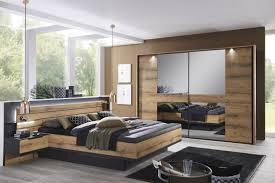 steffen schlafzimmer ventura plus in schwarz matt eiche dekor