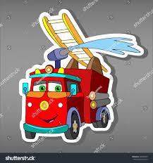 100 Fire Truck Applique Royaltyfree Cartoon Red Truck Car Sticker For 328549853