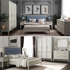 schlafzimmer möbelset beige mit goldenen griffen