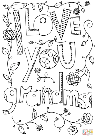 Click The I Love You Grandma Doodle Coloring Pages