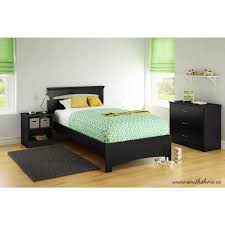 South Shore Libra Pure Black Twin Bed Frame The Home Depot