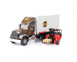 100 Ups Truck Toy Bruder MACK Granite UPS Logistics Truck With Forklift Castello