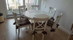 ikea esszimmer tisch ingatorp 6stühle ingolf in 42781 haan