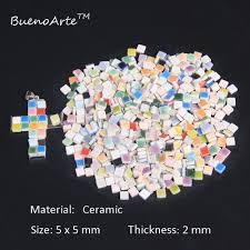400 pcs pack 5mm micro ceramic mosaic tile thickness 2mm diy