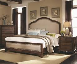 Padded Headboard Bed With Nailhead Trims Accent