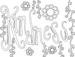 Kindness Word Coloring Pages