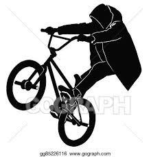 Teenager Riding A BMX Bicycle