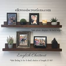 Floating Shelf Picture Ledge Shelf12 60quot Long Rustic Wooden