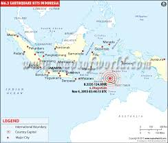 Location Map Of M63 Earthquake In Indonesia