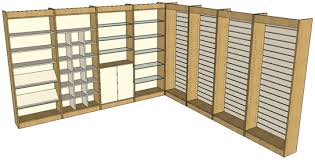 Wall Display Shelving Units
